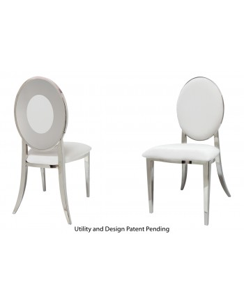 Oz Plus Chair (Silver-White)