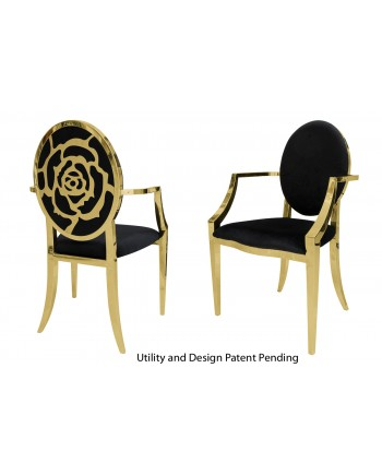 Rose Armchair (Gold-Black)