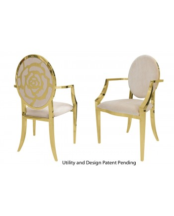 Rose Armchair (Gold-Champagne)