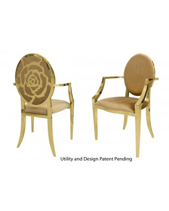 Rose Armchair (Gold-Gold)