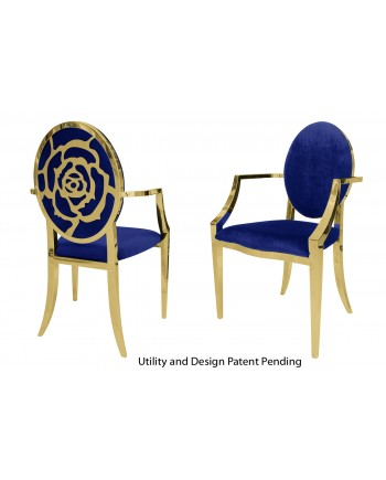 Rose Armchair (Gold-Royal)