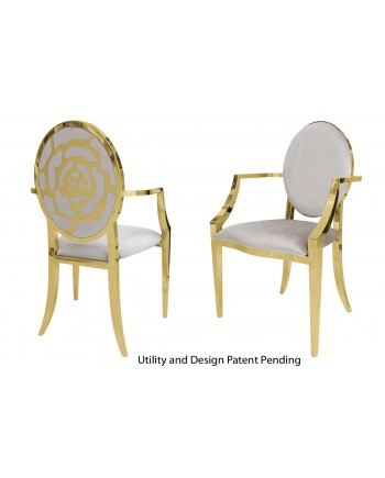 Rose Armchair (Gold-Silver)