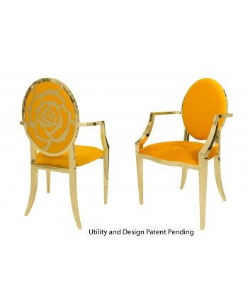 Rose Armchair (Gold-Yellow)