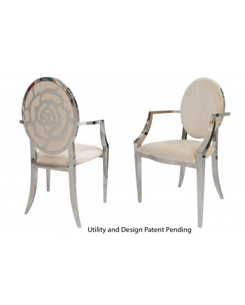 Rose Armchair (Silver-Champagne)