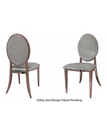 Tiffany Chair (Rose Gold-Silver)