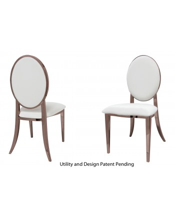 Tiffany Chair (Rose Gold-White)