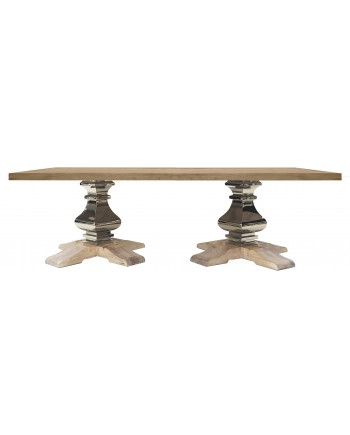 Tuscan Dining Table (Rectangle) (Silver)