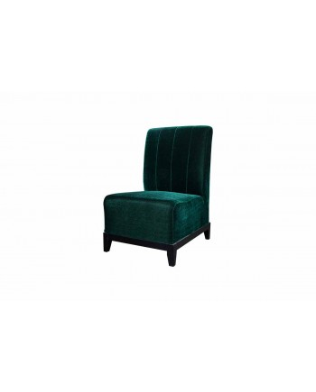 Velvet Chair (Armless with Lines) (Emerald)