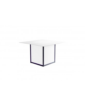 Skyline Dining Table (Square) (White Top)