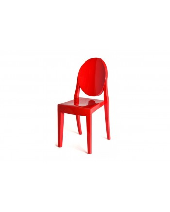 Ghost Chair Red (Armless)