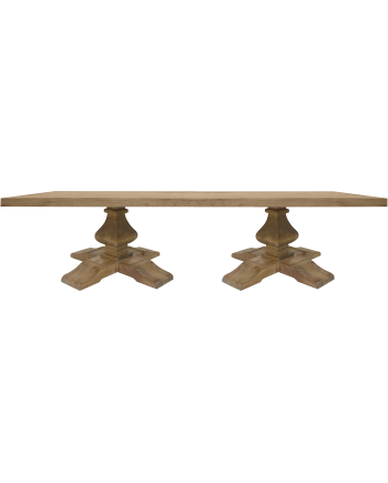 Tuscan Dining Table (Rectangle) (All Wood)